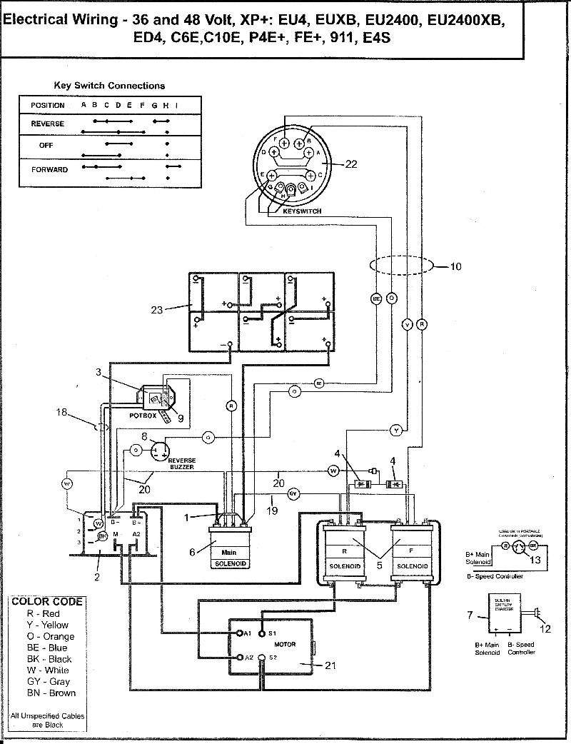Wiring Diagram 48 Volt Golf Cart : Cartaholics golf cart forum gt parcar wiring diagram