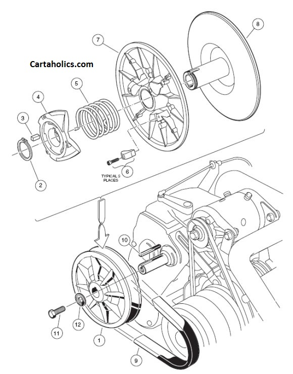 Yamaha Golf Cart G222 Clutch Diagram
