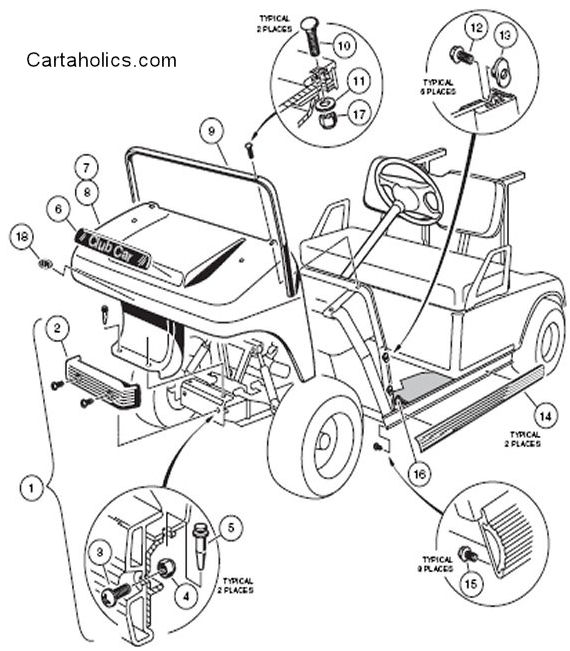Club Car Golf Cart Battery Diagram Golf Cart Golf Cart Customs